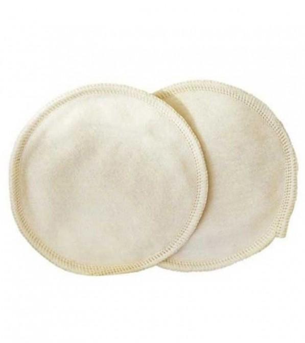 Coppette assorbilatte lavabili Disana in cotone flanellato e microfibra - 1 paio