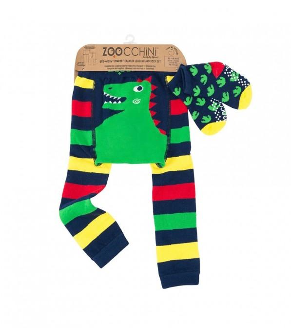 Leggings Zoocchini con calzini antiscivolo abbinati - 12/18 mesi