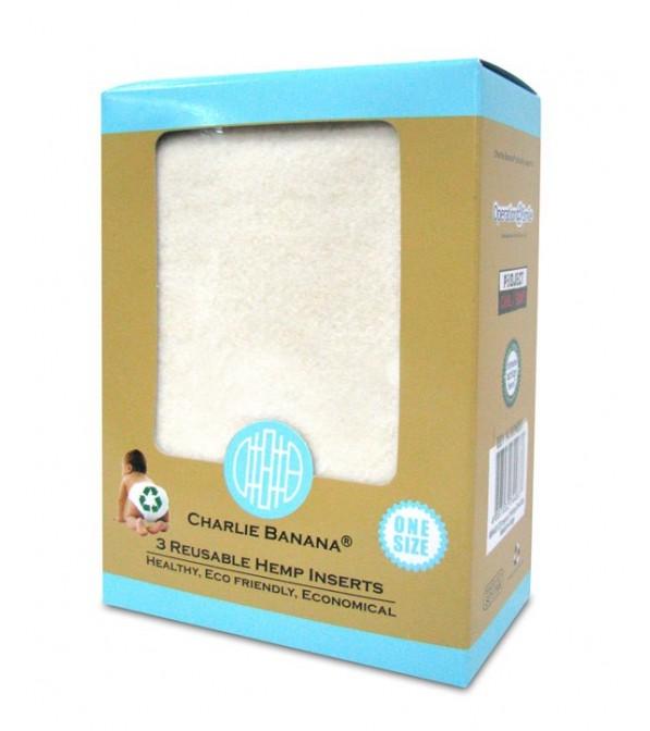 Inserti Charlie Banana 55% Canapa e 45% Cotone - 3 pz.
