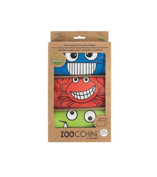 Set slip / Set boxer in cotone biologico Zoocchini 2-3 anni (3 pz.)