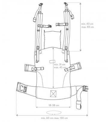 Marsupio Ergonomico Regolabile ISara V4 Standard