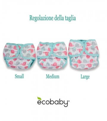 Costume contenitivo regolabile Thirsties - Size One (3-8 kg)