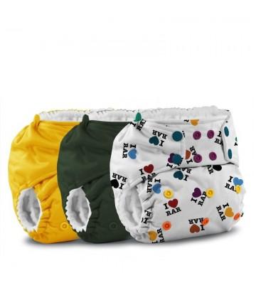 3x Pannolino lavabile pocket Rumparooz One size